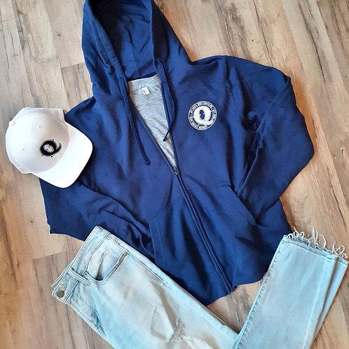 Jim Quick & Coastline Hoodie Zip Up - Navy Blue