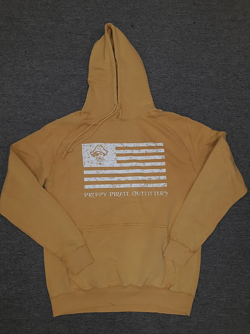 "Preppy Pirate ""United We Rep"" Flag Pigment dye Hoodie"
