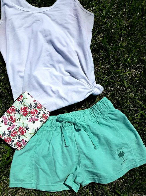 Ladies Preppy Pirate Summer Shorts - Chalky Mint