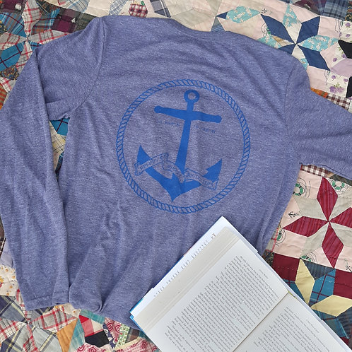 "Preppy Pirate ""The Anchor"" Tri-Blend longsleeve shirt"