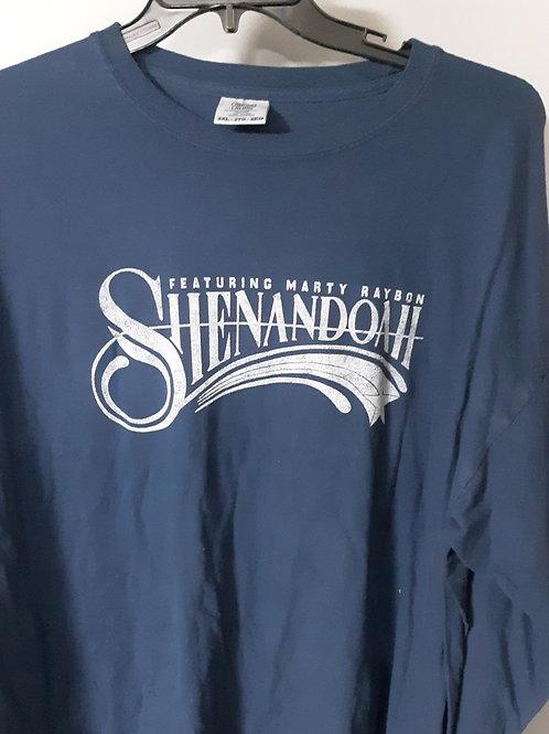 Shenandoah Long Sleeve Logo T Shirt - navy