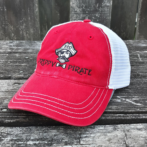Preppy Pirate Relax Fit trucker cap -Red