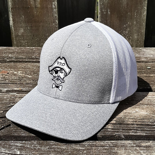 Preppy Pirate Heather Grey FlexFit Fitted hat