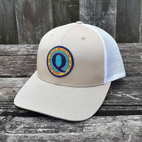 Jim Quick & Coastline Patch trucker hat - Tan