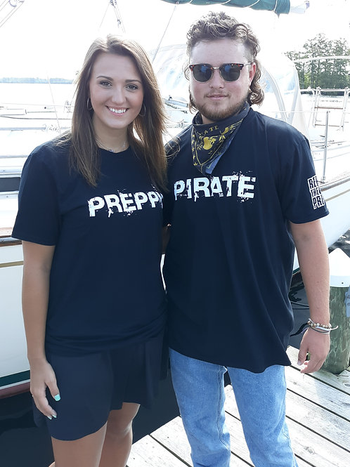 Preppy or Pirate Black Declaration Tees - You Choose