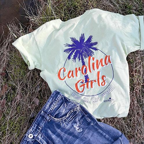 Carolina Girls - Best in the World shirt logo tee shirt - Celadon