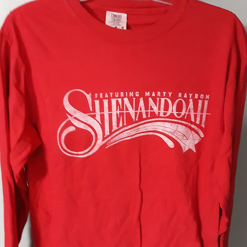 Shenandoah Long Sleeve Logo T Shirt - RED