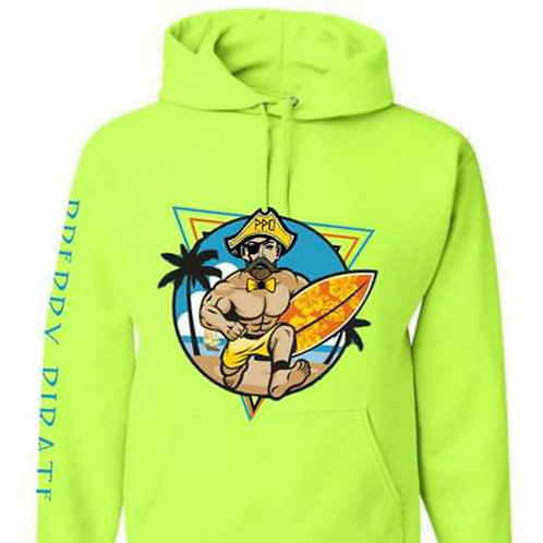 Limited Edition Preppy Pirate Neon Hoodie Sweatshirt