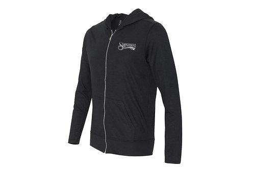 Shenandoah Tri-Blend zip up hooded shirt - Black