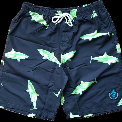 Preppy Pirate Board Shorts - Shark Bait