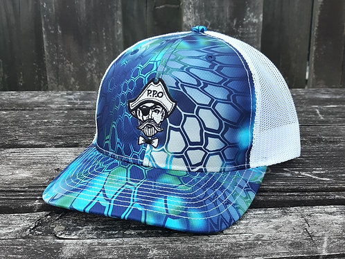 Preppy Pirate Aqua Kryptek snapback hat