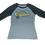 Thumbnail: Ladies Jim Quick & Coastline tri blend baseball tee - Black