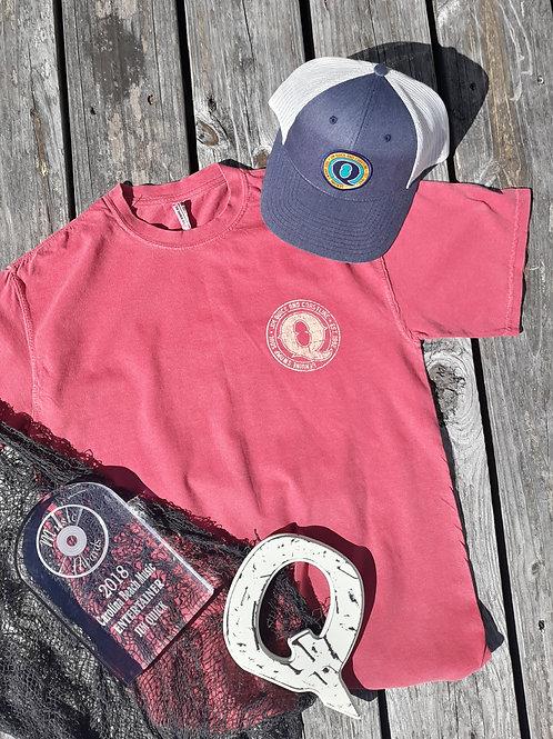 Jim Quick & Coastline Distressed Logo Tee shirt - Red