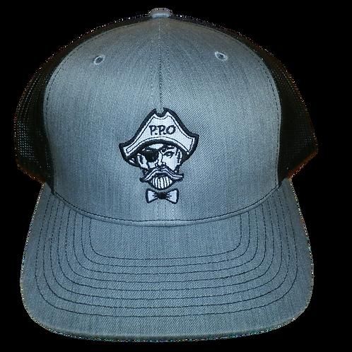 Preppy Pirate blackout trucker hat