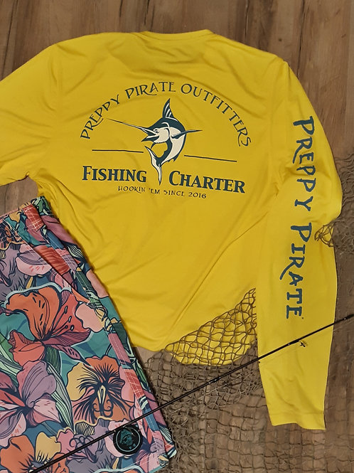 Preppy Pirate Outfitters Performance Fishing Charter tee / Long sleeve