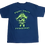 Thumbnail: Kids Preppy Pirate Double Logo t shirt - Blue w/ Green