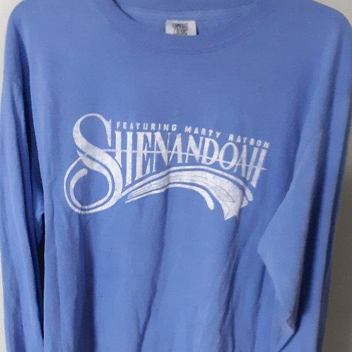 Shenandoah Long Sleeve Logo T Shirt - Blue