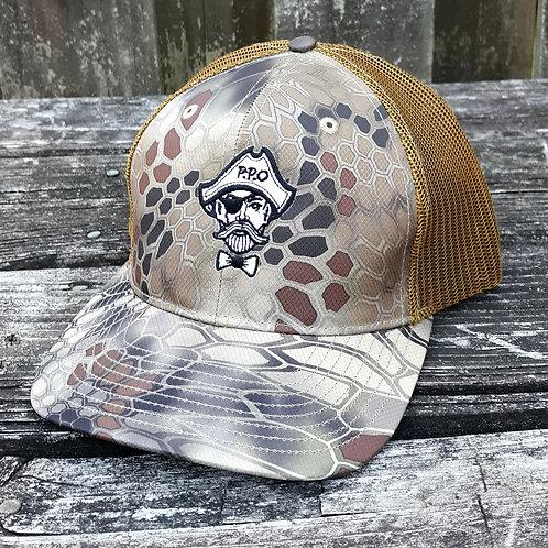 Preppy Pirate Gold Kryptek snapback hat
