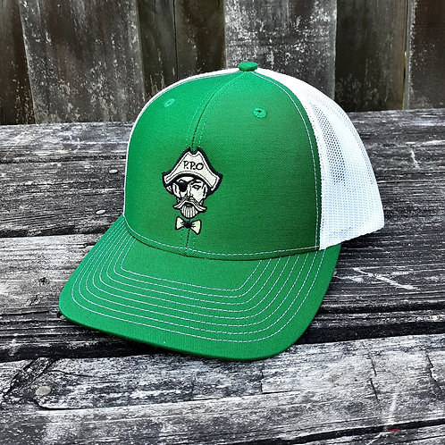 Preppy Pirate Green snapback trucker hat