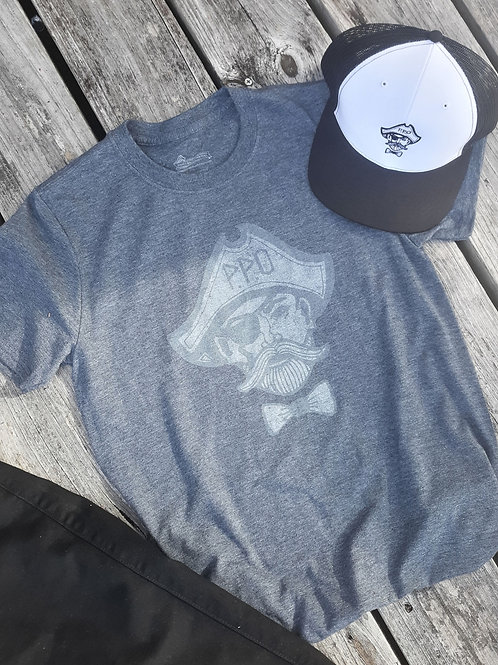 Preppy Pirate Ghost Pirate T - Charcoal