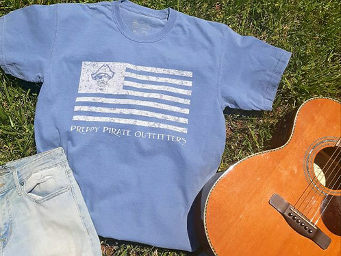 """Preppy Pirate """"United We Rep"""" Flag t shirt"""