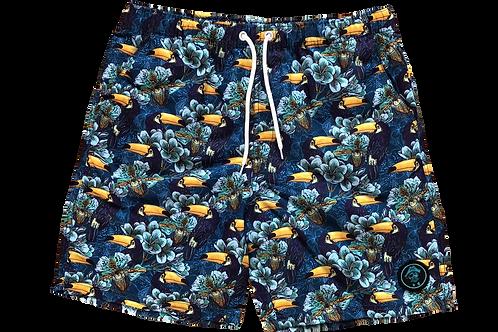 Preppy Pirate Swimwear Board Shorts - Toucan Man