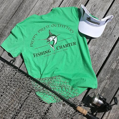 "Preppy Pirate ""Hookin Em"" Fishing Charter t shirt"