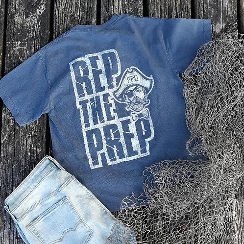 Preppy Pirate REP THE PREP short sleeve tee - Denim Blue