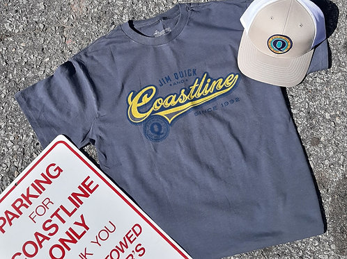 Jim Quick & Coastline script logo band t shirt