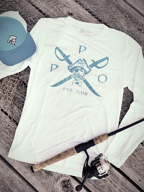 "Preppy Pirate ""Cross Sword"" UPF+ 30 longsleeve fishing tee"