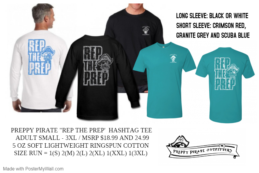 Rep The Prep - Hashtag tee