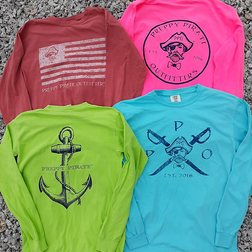 Buy 3 get 1 free The Preppy Pirate Longsleeve T combo pack