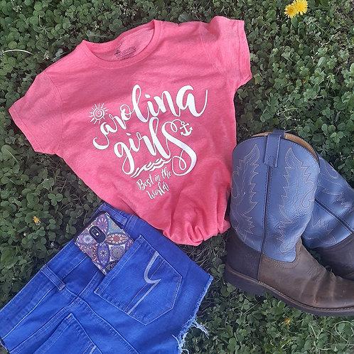 "Ladies CAROLINA GIRLS ""Best in the World"" fitted T shirt - Heather Orange"