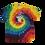 Thumbnail: Kids Preppy Pirate Big logo tie dye shirt