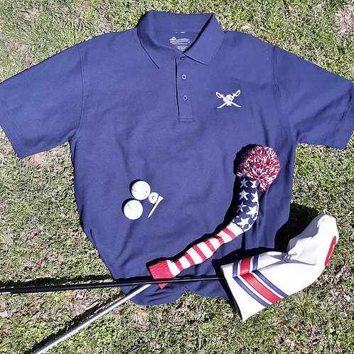 Mens Preppy Pirate Outfitters Golf Shirt