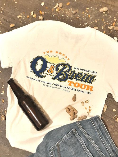 """2020 """"Q & Brew"""" Jim Quick & Coastline official tour shirt"""