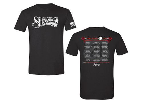Shenandoah 2021 Official Every Road tour shirt