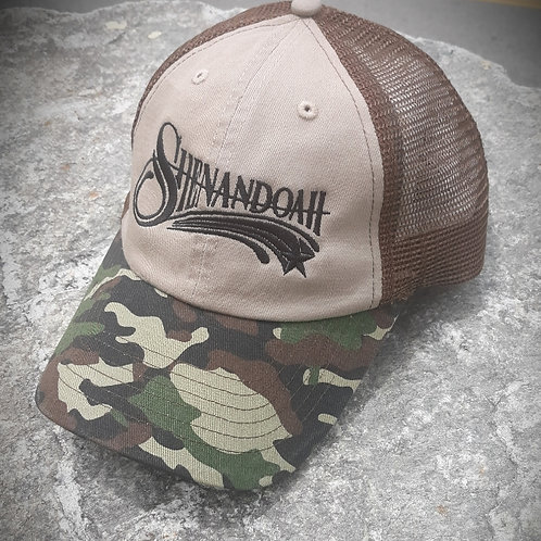 """Shenandoah logo """"Salute to Service"""" relax fit trucker hat"""