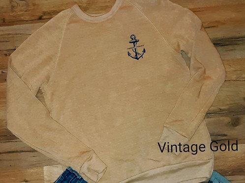 Preppy Pirate Vintage Inspired Tri-bend Crewneck sweatshirt