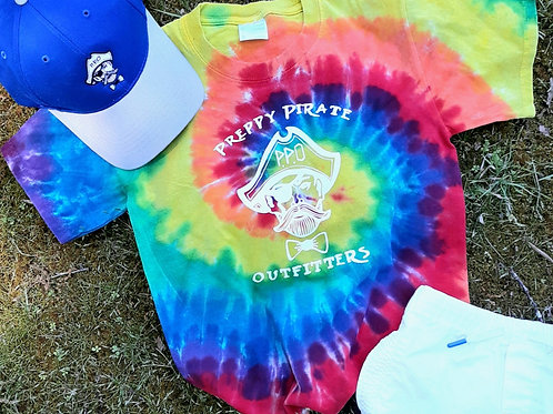 Kids Preppy Pirate Big logo tie dye shirt