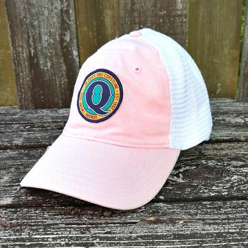 Jim Quick & Coastline Unstructured Pink Patch trucker hat