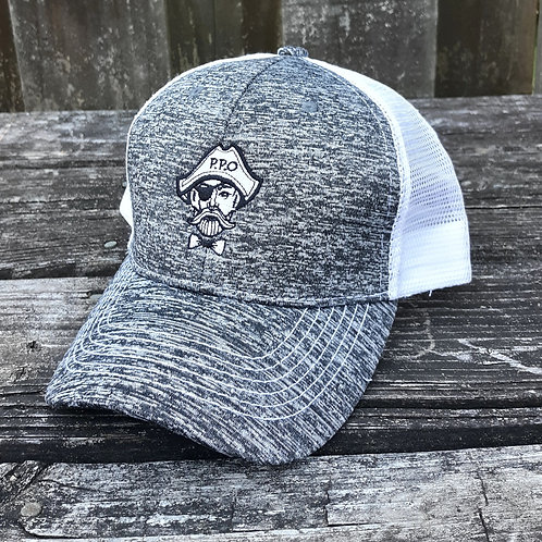 Preppy Pirate White Marble snapback trucker hat