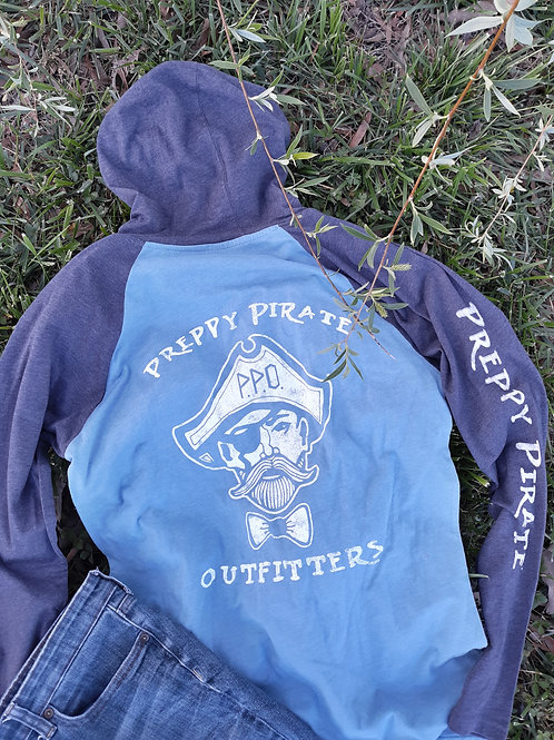 Preppy Pirate Hooded triple logo longsleeve Tee