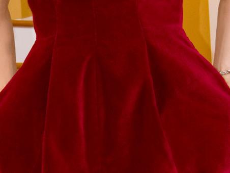 Velvet Dress Detail