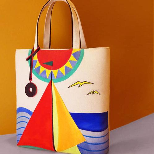 Cotton Canvas Beach Bag