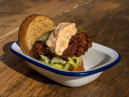 ZFC – Zena Fried Chicken Crumpet Burger - Love Norwich Food X Crumpetorium