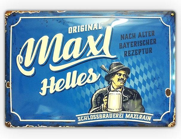 """Blechdruckschild """"Original Maxl"""""""