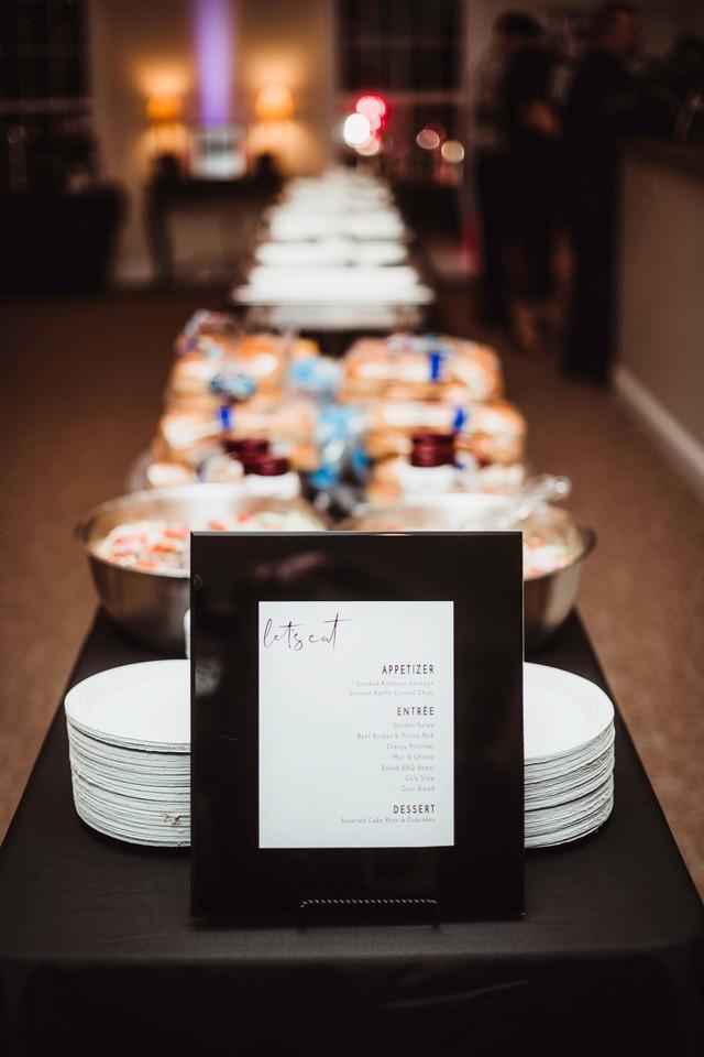 Wedding BBQ Buffet michigan wedding coordinator