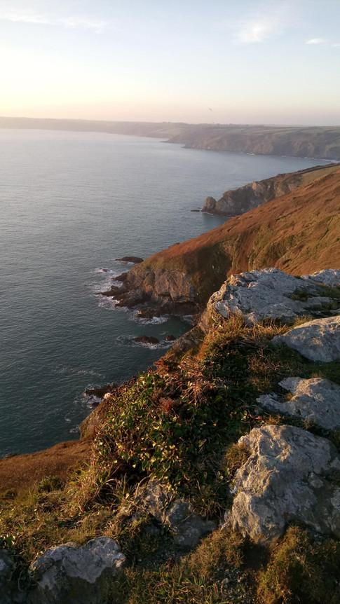 Cliffs a short walk from the campsite