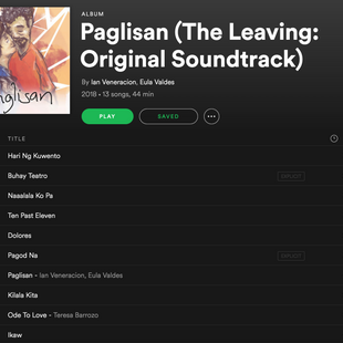 PAGLISAN Original Soundtrack is now on Spotify